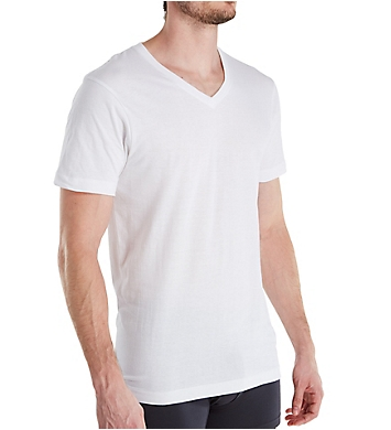 Van Heusen Essentials Cotton V-Neck T-Shirts - 5 Pack