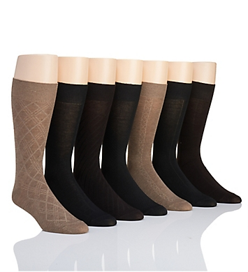 Van Heusen Solid Texture Dress Socks - 7 Pack