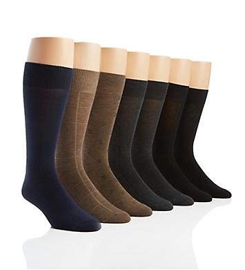 Van Heusen Flat Knit Solid Dress Socks - 7 Pack