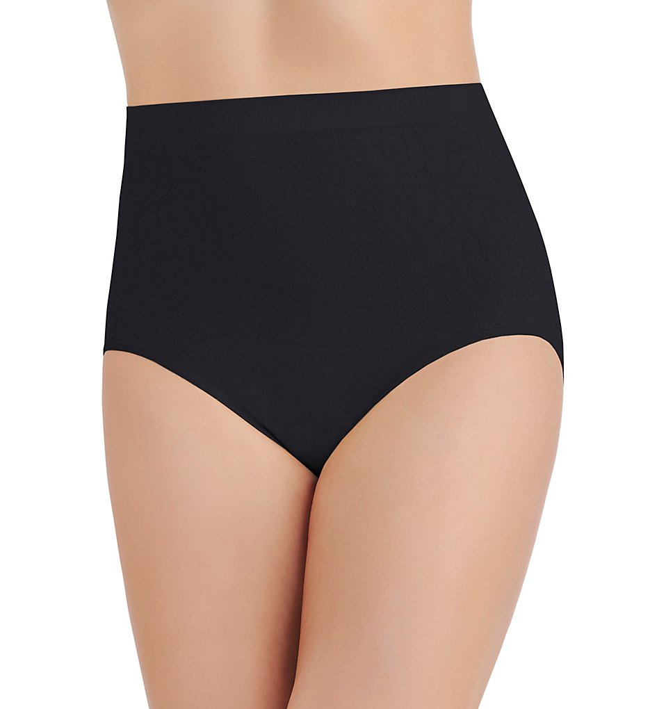 Vanity Fair - Vanity Fair 13096 Perfectly Yours Seamfree Jacquard Brief Panty (Midnight Black 10/11)