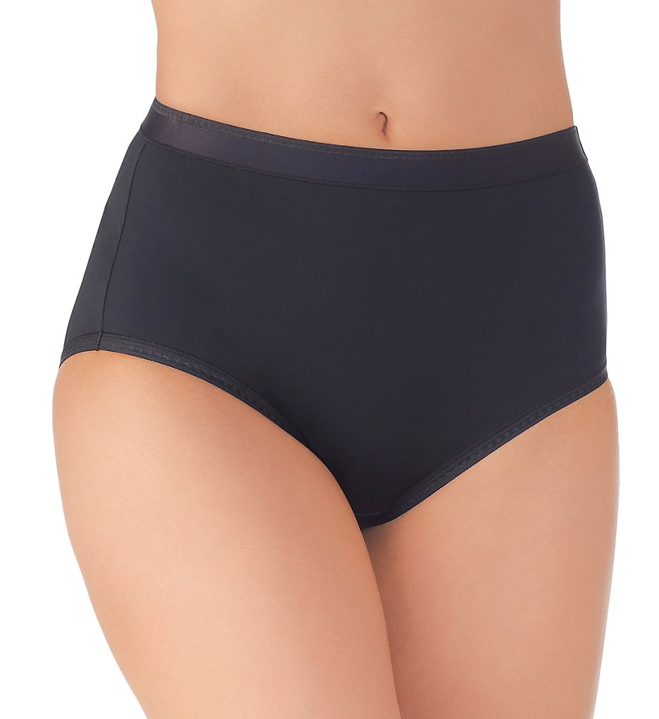 Vanity Fair - Vanity Fair 13163 Comfort Where It Counts Brief Panty (Midnight Black 6)