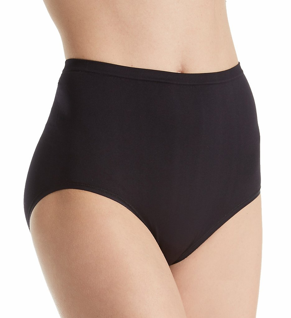 Vanity Fair - Vanity Fair 13210 Seamless Brief Panty (Midnight Black 6)