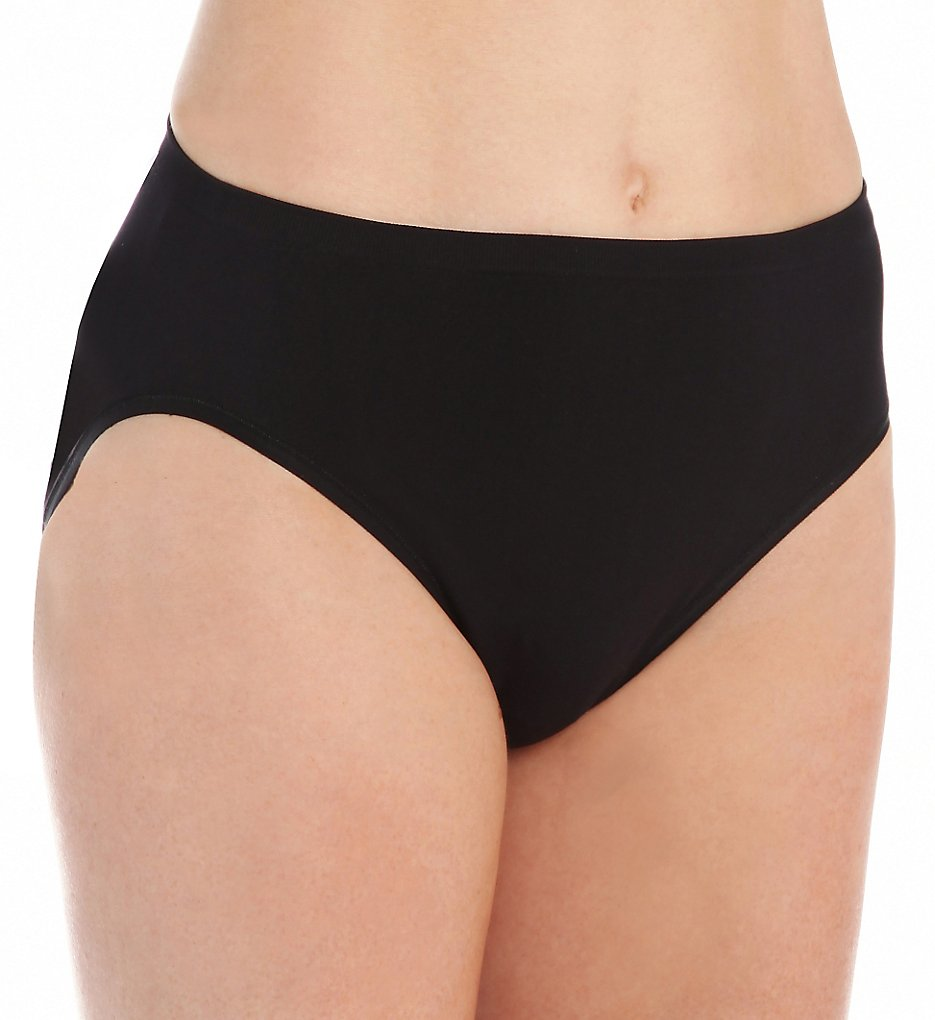 Vanity Fair - Vanity Fair 13211 Seamless Hi-Cut Panty (Midnight Black 7)