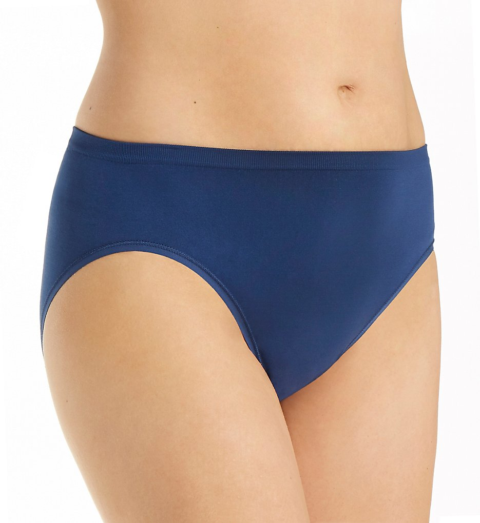 Vanity Fair - Vanity Fair 13211 Seamless Hi-Cut Panty (Time Square Navy 6)