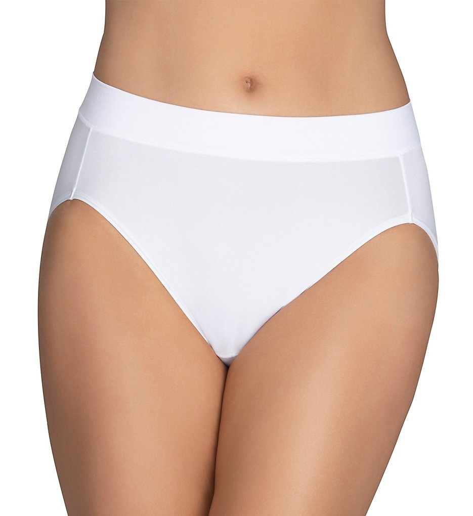 Vanity Fair - Vanity Fair 13212 Beyond Comfort Hi-Cut Brief Panty (Star White 6)