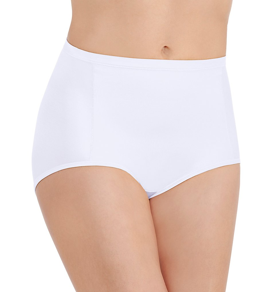 Vanity Fair - Vanity Fair 13261 Body Caress Smoothing Brief Panty (Star White 6)