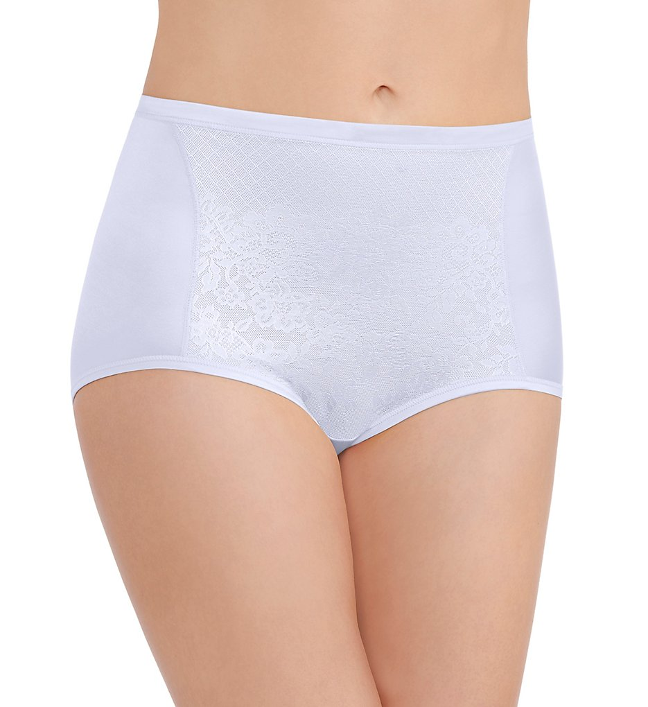 Vanity Fair >> Vanity Fair 13262 Smoothing Comfort Lace Brief Panty (Star White 6)