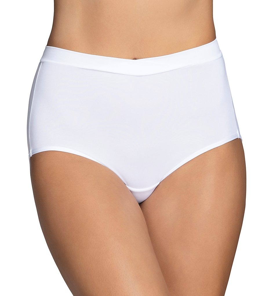 Vanity Fair >> Vanity Fair 13290 Beyond Comfort Silky Stretch Brief Panty (Star White 6)