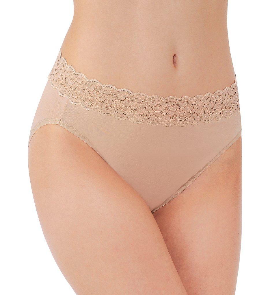 Vanity Fair 13395 Flattering Lace Cotton Stretch Hi-Cut Brief Panty