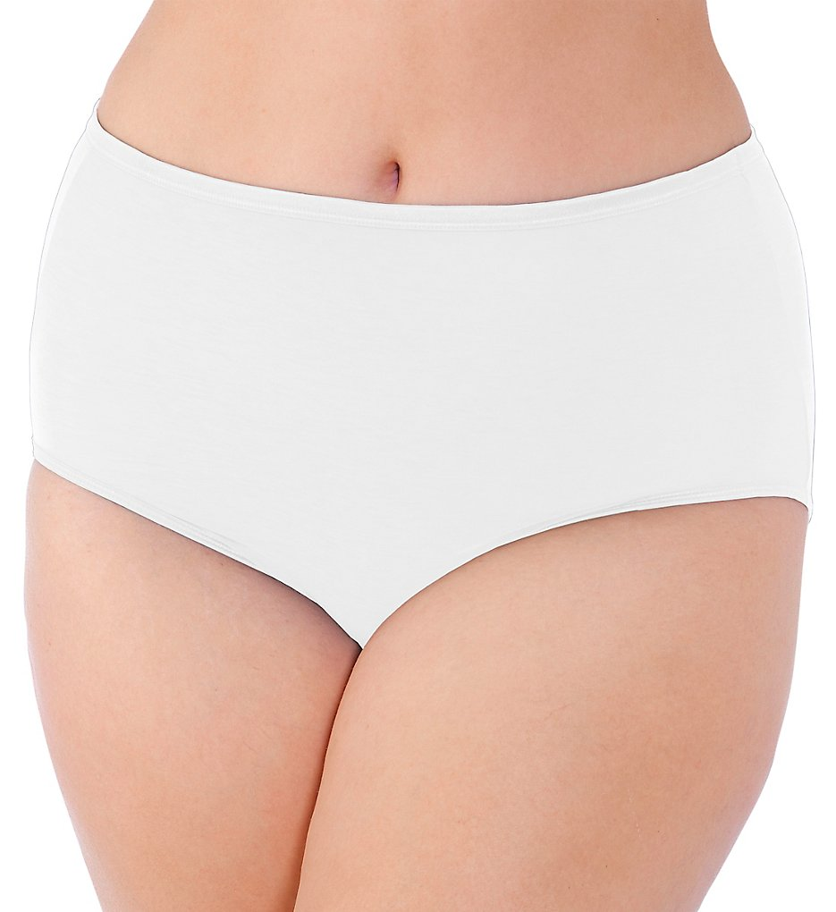Vanity Fair >> Vanity Fair 13811 Illumination Plus Size Brief Panty (Star White 9)