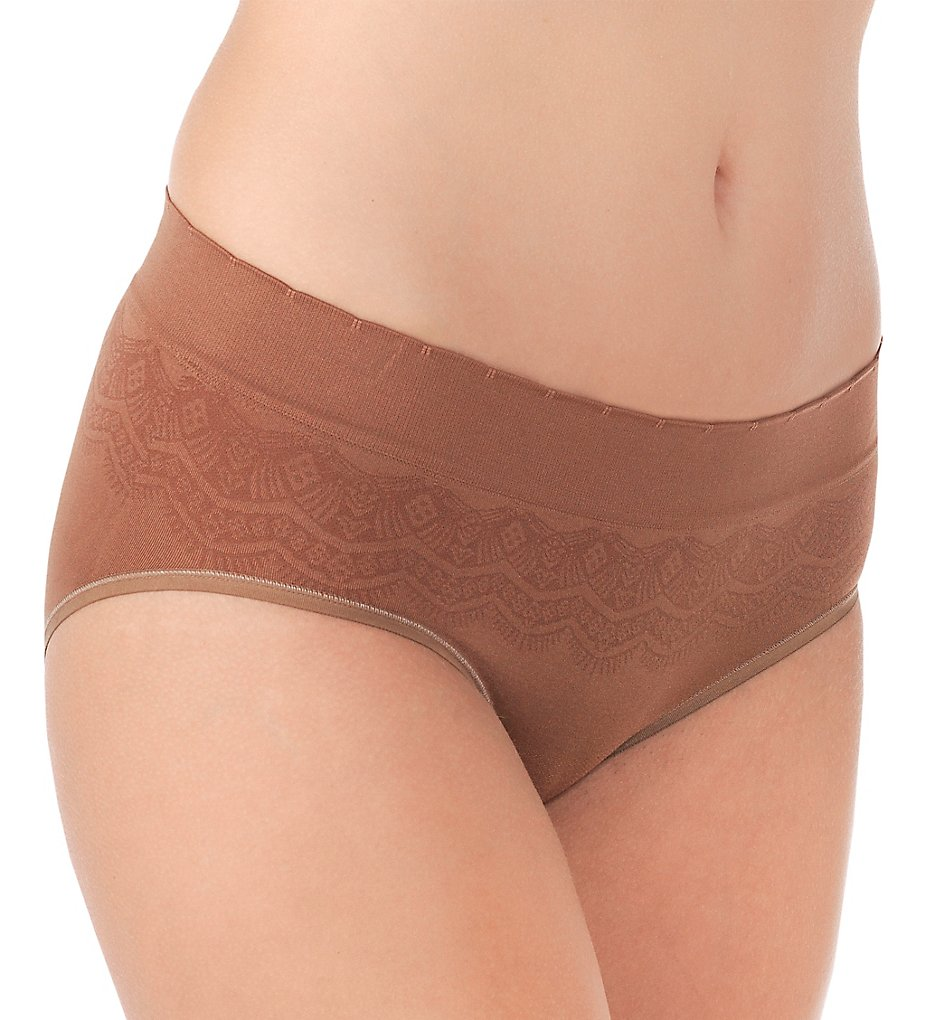 Vanity Fair - Vanity Fair 18170 No Pinch No Show Seamless Hip Brief Panty (More Coffee Lace 5)