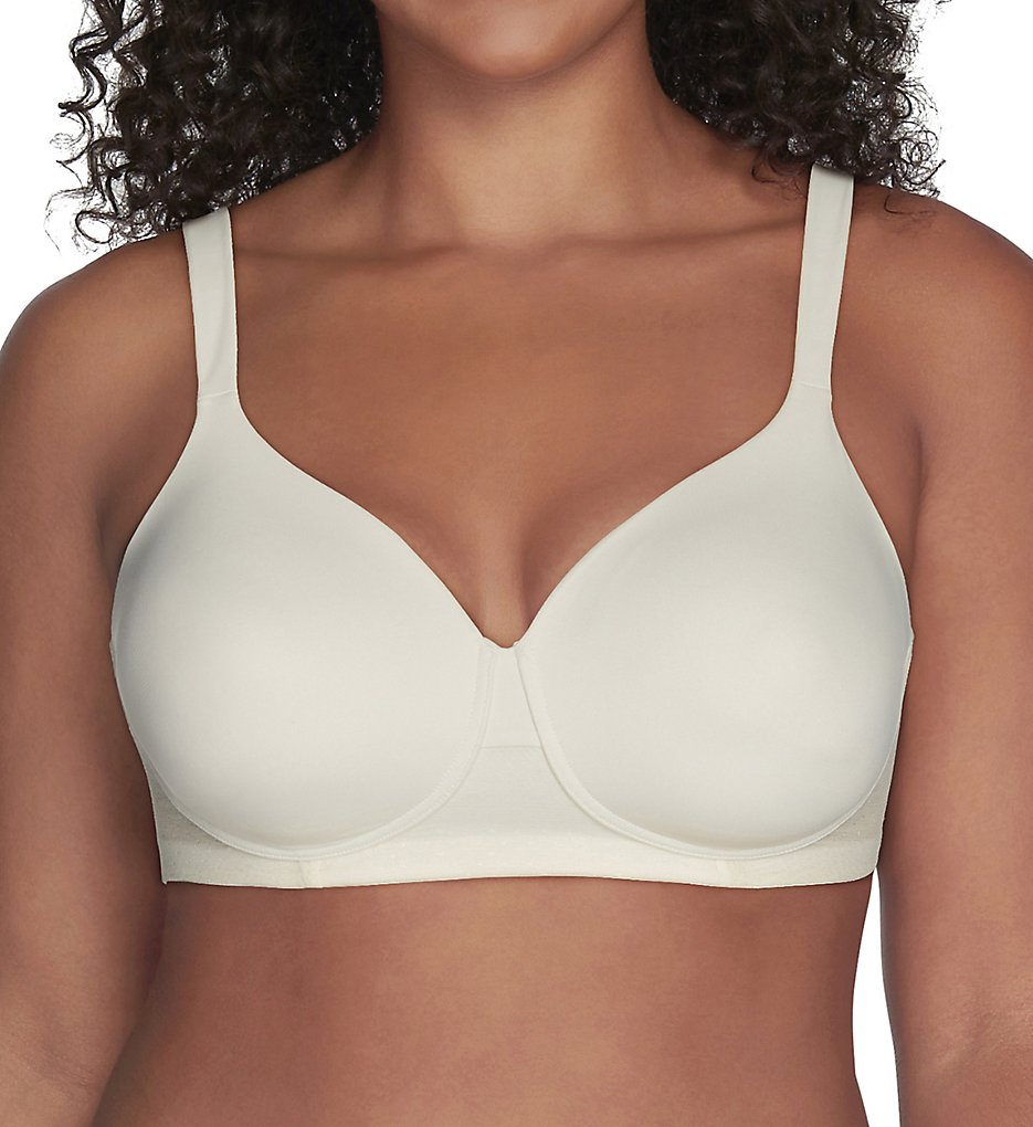 Vanity Fair 71265 Breathable Luxe Full Figure Wirefree Bra (Coconut White)