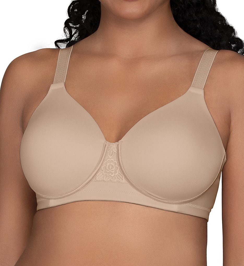 Vanity Fair 71380 Beauty Back Full Figure Wirefree Bra (Damask Neutral)