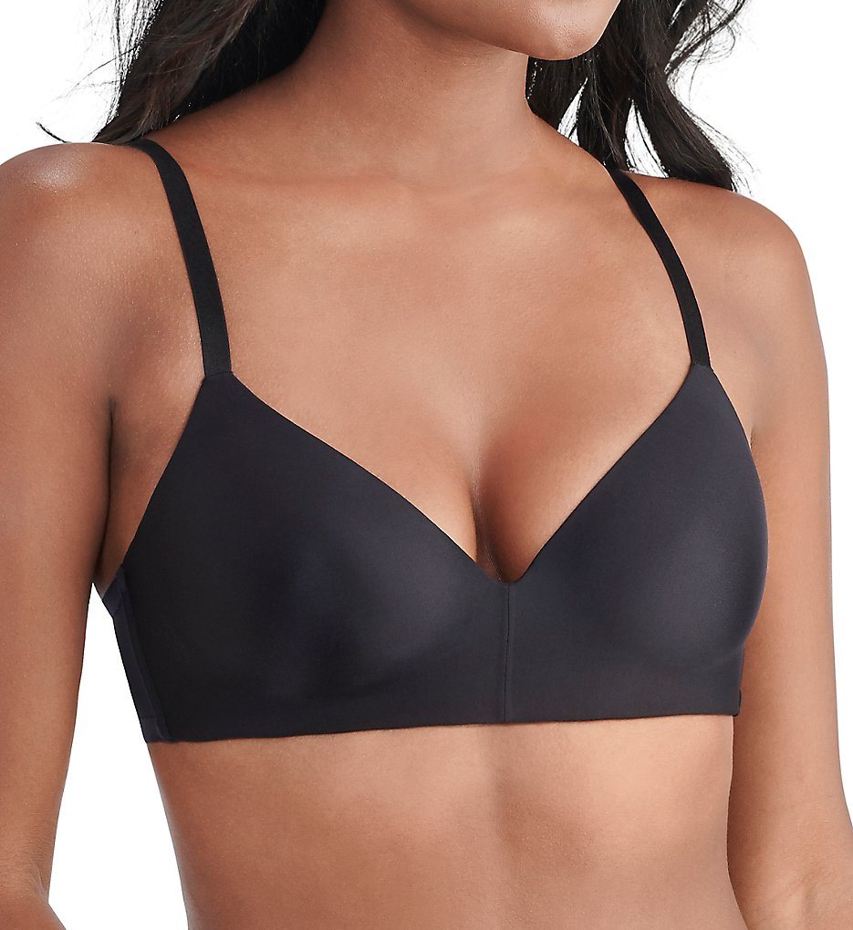 Vanity Fair 72200 Nearly Invisible Full Coverage Wirefree Bra (Black)