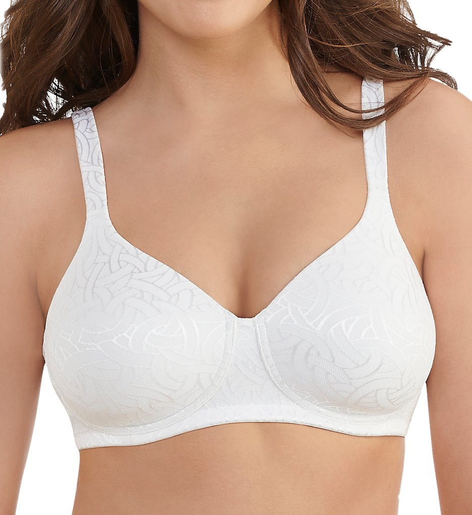 Vanity Fair - Vanity Fair 72298 Body Shine Full Coverage Wirefree Bra (Star White Jacquard 38B)