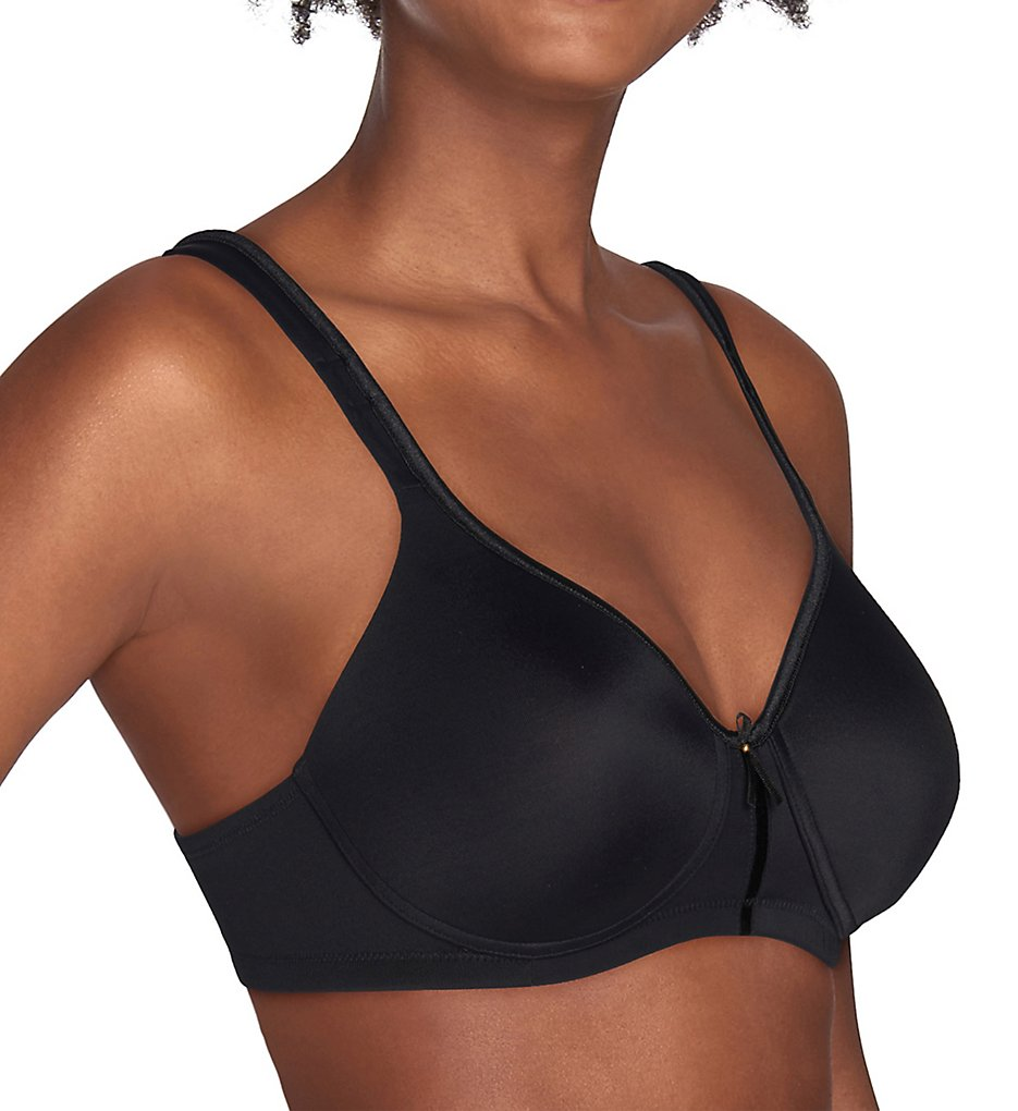 Vanity Fair 72335 Body Caress Wirefree Bra (Midnight Black)
