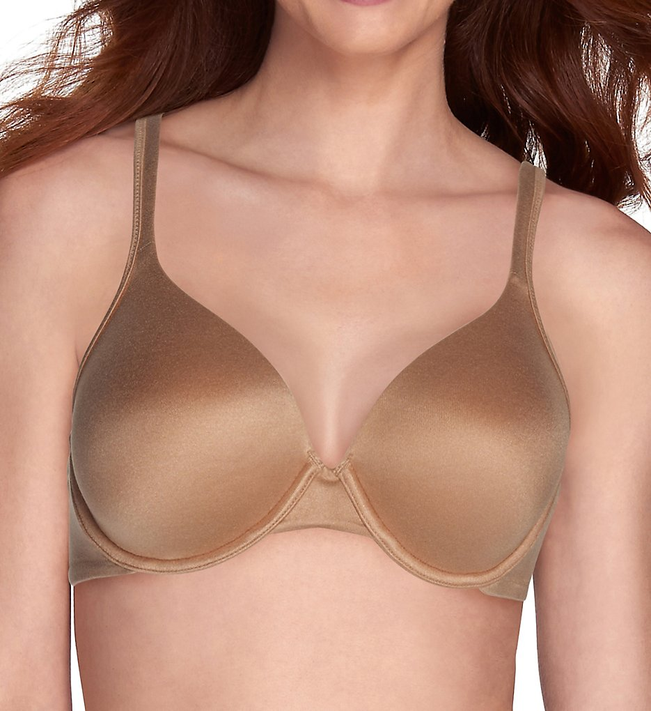 Vanity Fair 75298 Body Shine Full Coverage Underwire Bra (Honey Beige)