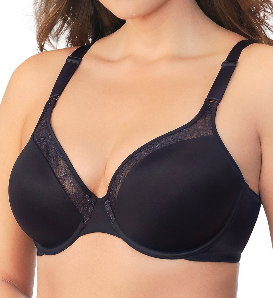 Vanity Fair - Vanity Fair 76212 Flattering Lift Everyday Full Figure Bra (Midnight Black 38DD)