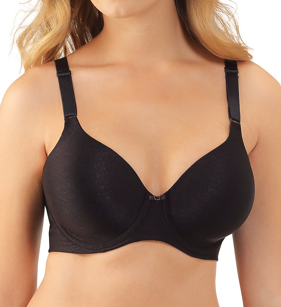 Vanity Fair 76345 Beauty Back Full Figure Underwire Bra (mid Black Jacquard)