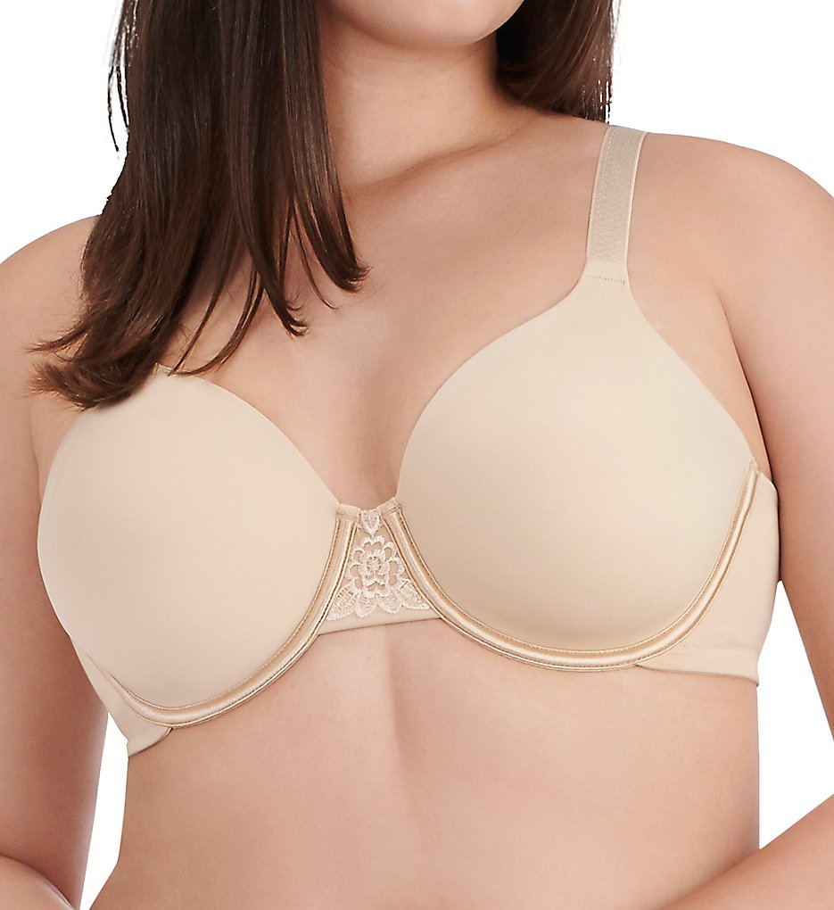 Vanity Fair >> Vanity Fair 76380 Beauty Back Full Figure Underwire Bra (Damask Neutral 36C)