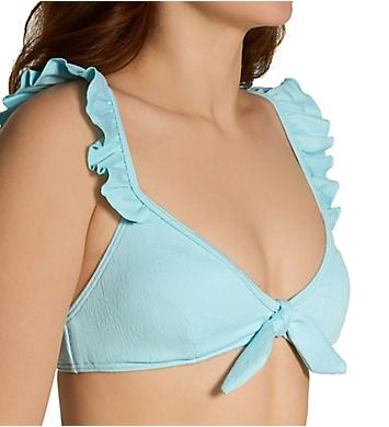 Vince Camuto Marea Texture Ruffle Bikini Swim Top