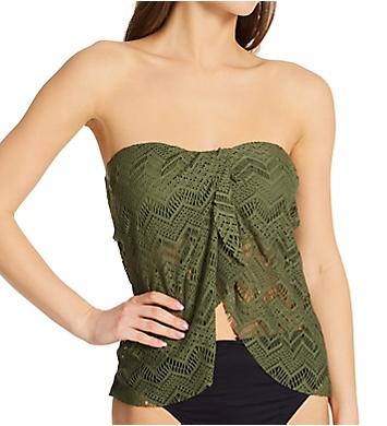 Vince Camuto Crochet Lace Draped Bandini Swim Top