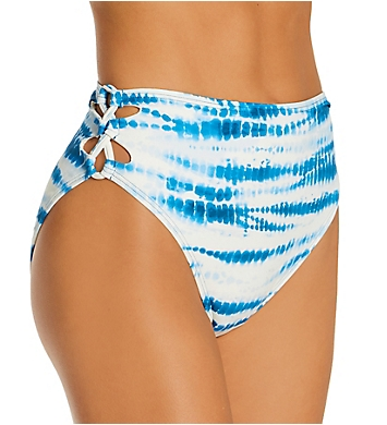 Vince Camuto Tie Dye Side Laced High Leg Bikini Swim Bottom