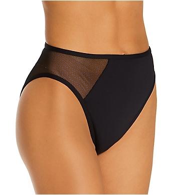Vince Camuto Mesh Cutouts High Leg Bikini Swim Bottom