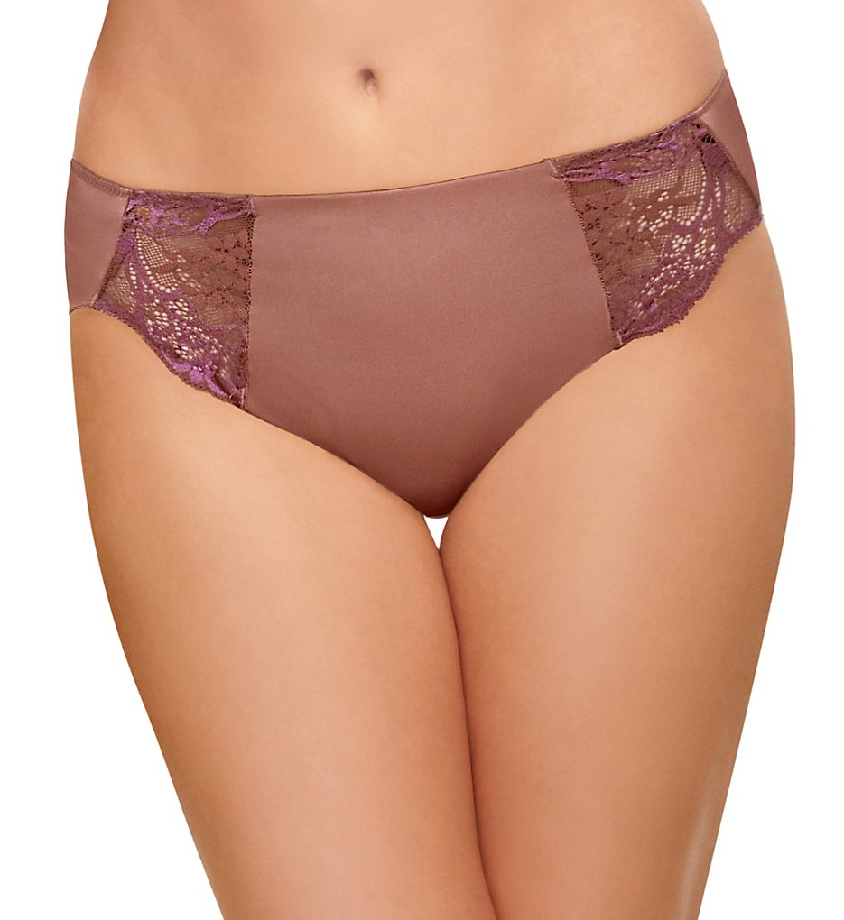 Wacoal - Wacoal 841257 Lace Impression Hi-Cut Brief Panty (Cognac S)