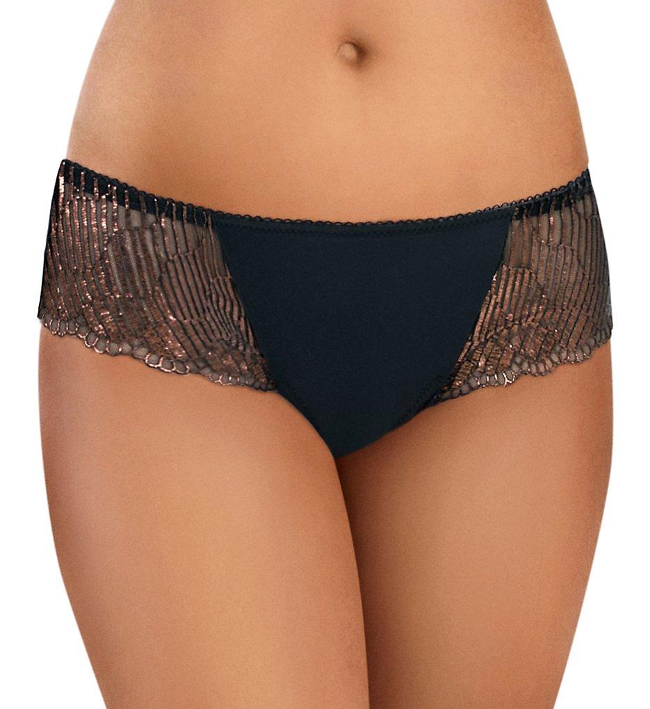 Wacoal - Wacoal 843317 La Femme Bikini Panty (Black/Bronze M)