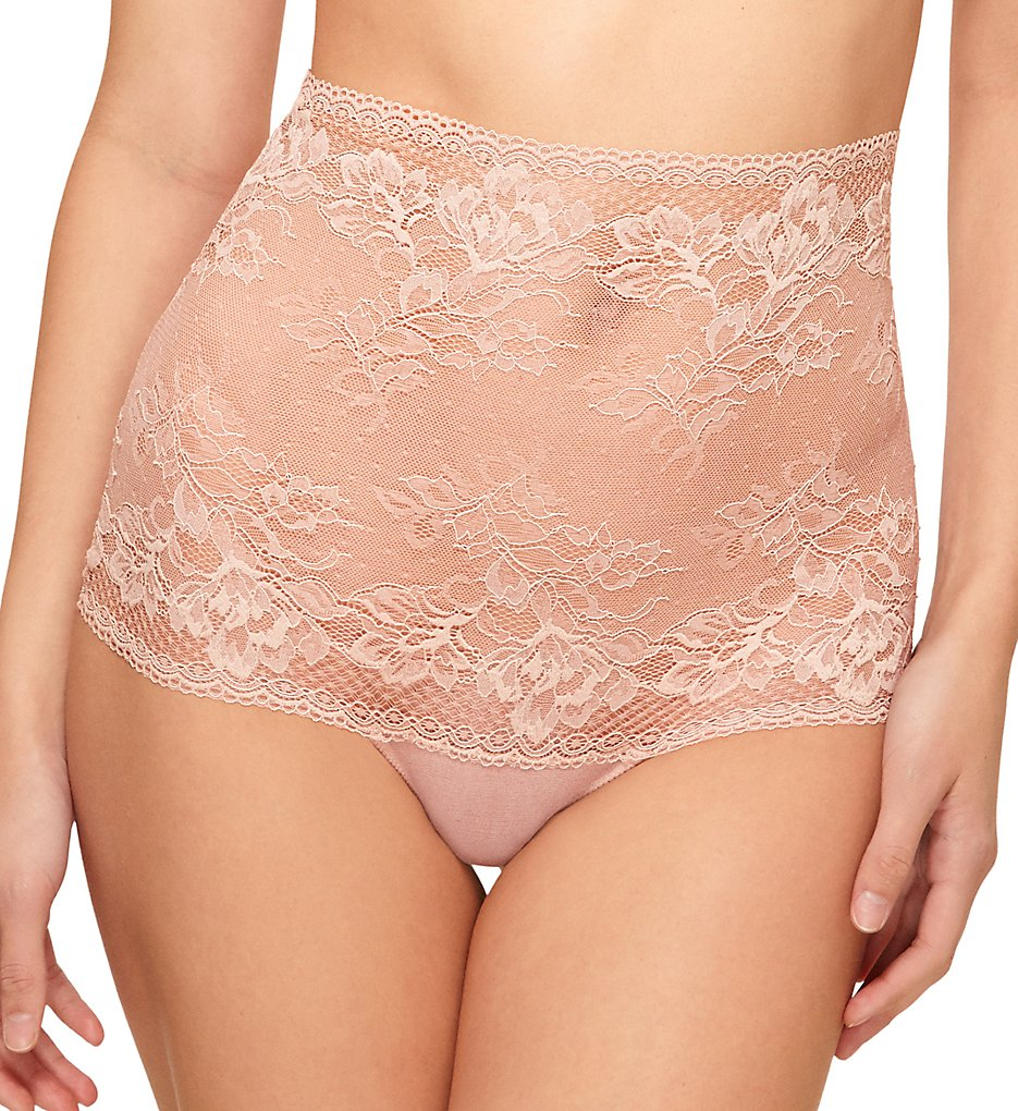 Wacoal >> Wacoal 844297 Lace To Love High Waist Thong Panty (Rose Dust S)