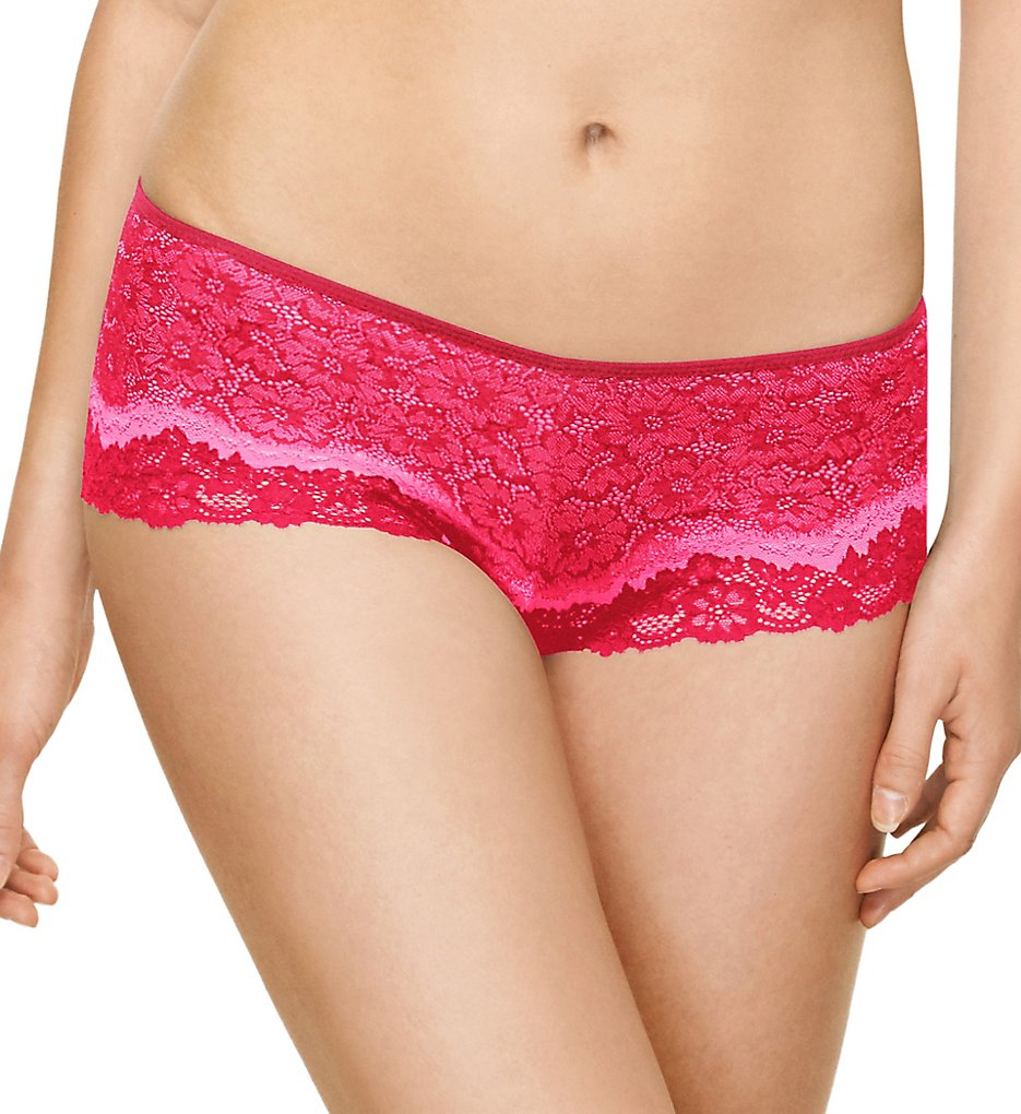 Wacoal >> Wacoal 845290 Basic Benefits Boyshort Panty (Love Potion/Lilac Snow S)