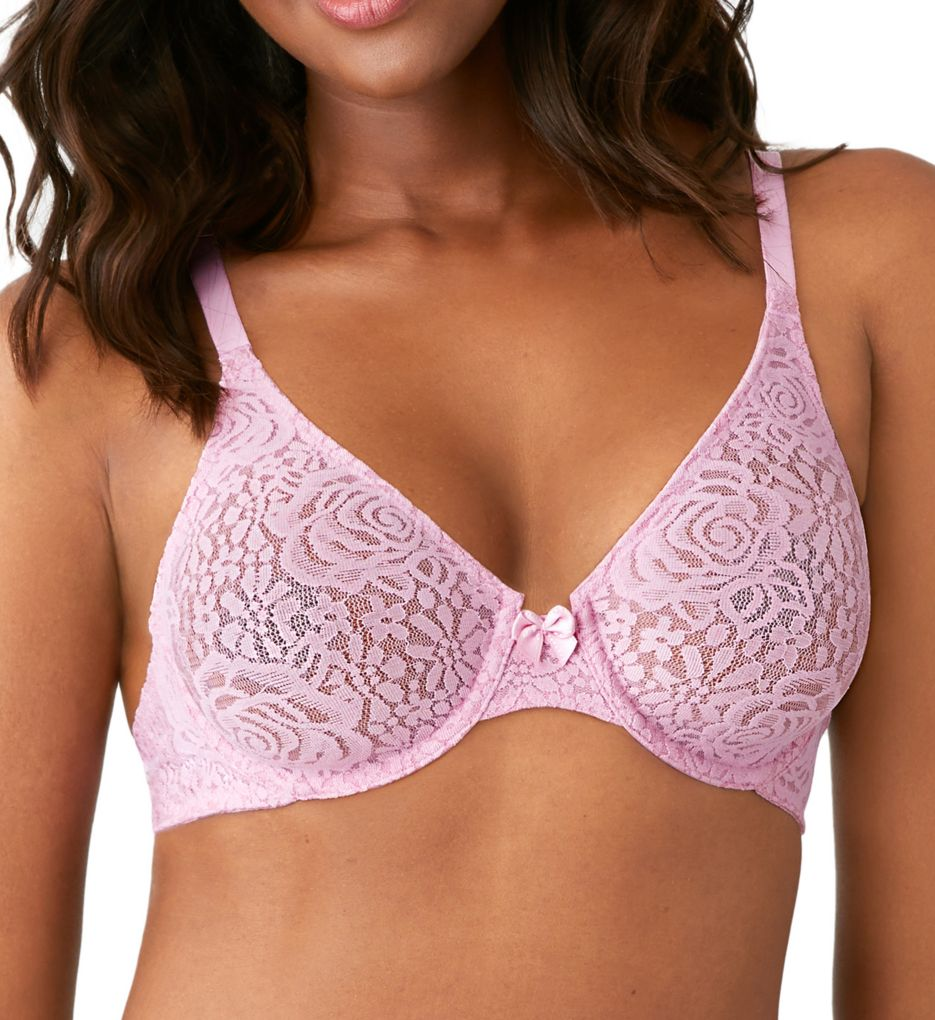 Wacoal Halo Lace Molded Underwire Bra with J-Hook