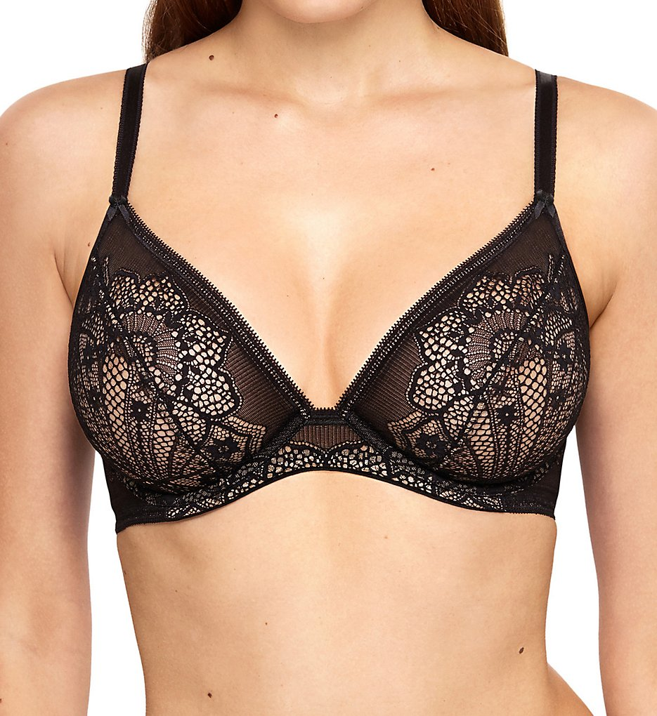 Wacoal - Wacoal 851273 Take the Plunge Lace Underwire Bra (Black 32C)