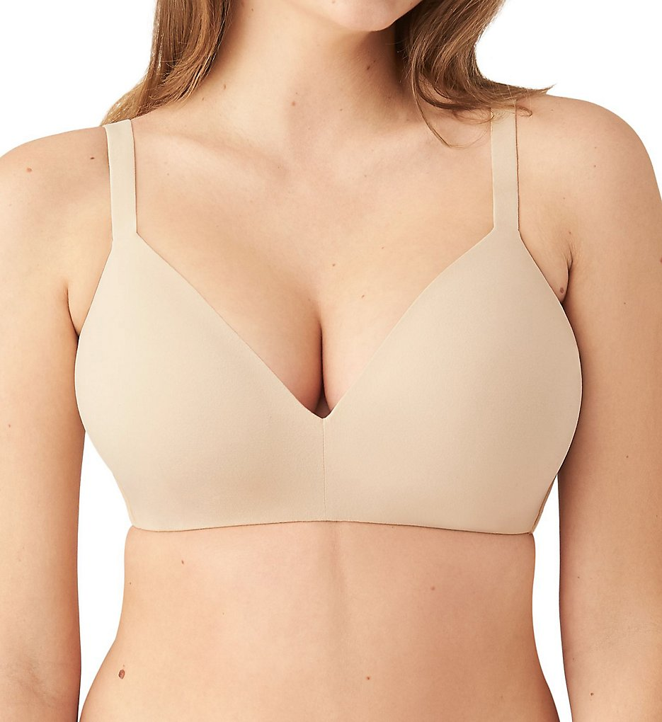 Wacoal >> Wacoal 852189 How Perfect Wireless T-Shirt Bra (Sand 34A)