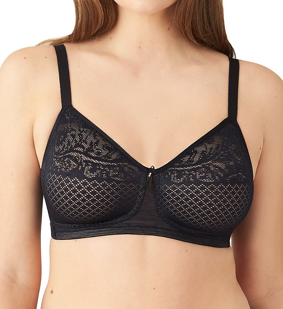 Wacoal >> Wacoal 852210 Visual Effects Wire Free Minimizing Bra (Black 34C)