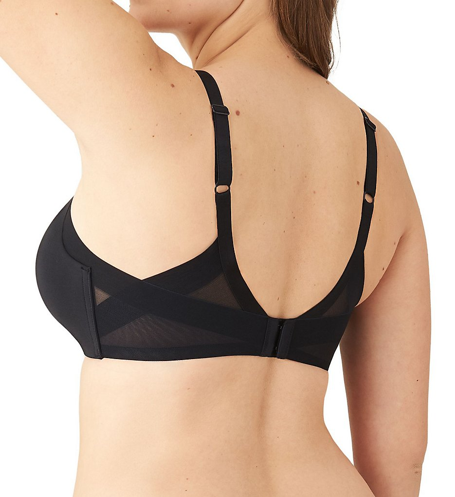 Wacoal >> Wacoal 852281 Ultimate Side Smoother Wire Free T-Shirt Bra (Black 32B)