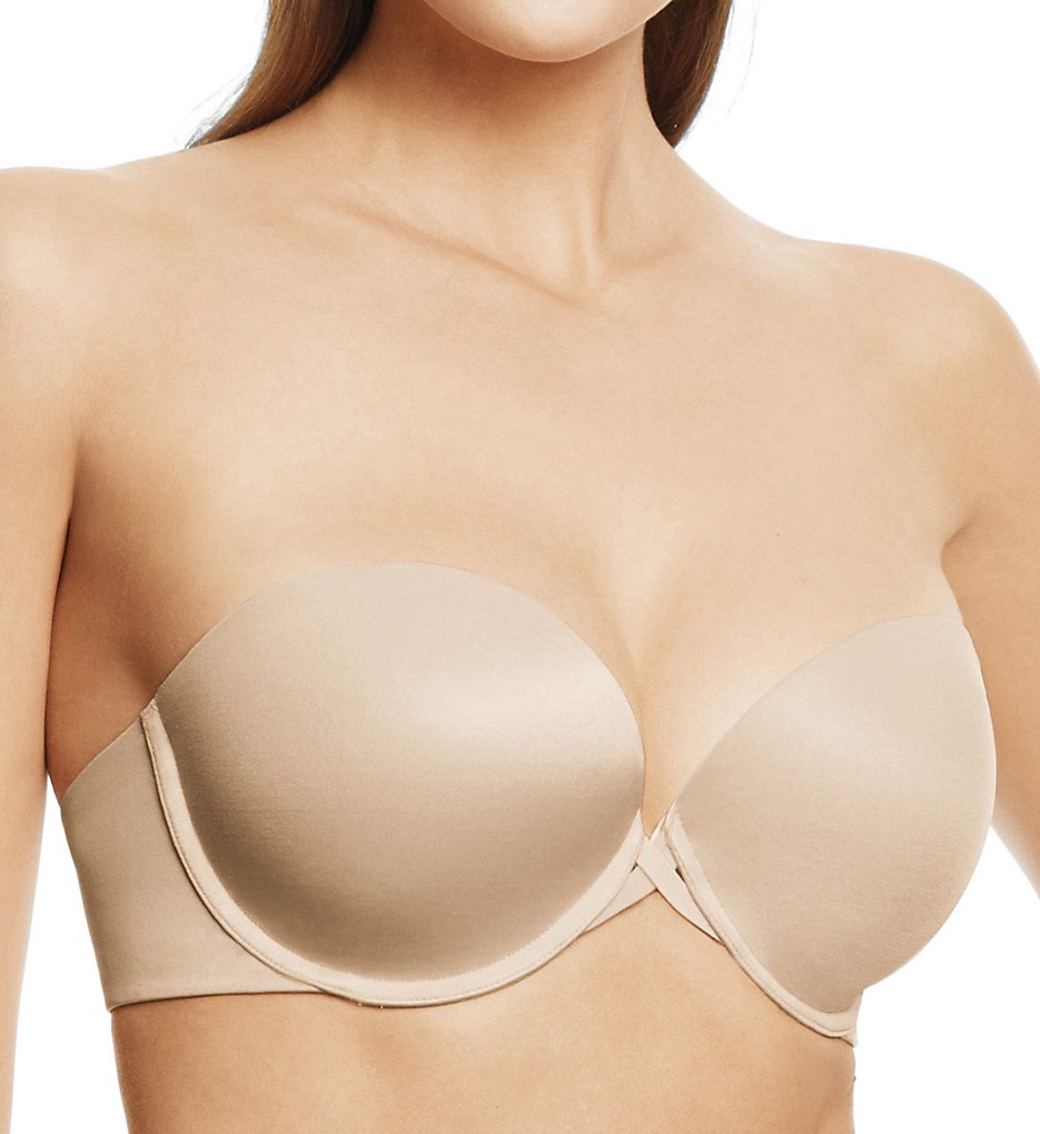 Wacoal - Wacoal 854220 Amazing Assets Smoothing Strapless Push Up Bra (Naturally Nude 32B)
