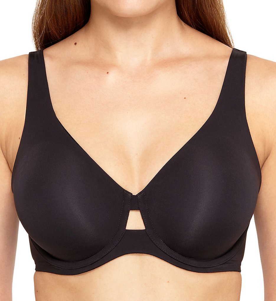 Wacoal >> Wacoal 855280 First Instinct Underwire Bra (Black 40D)