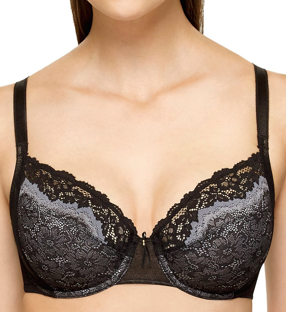 Wacoal >> Wacoal 855290 Basic Benefits Unlined Underwire Bra (Black/Gray 40C)