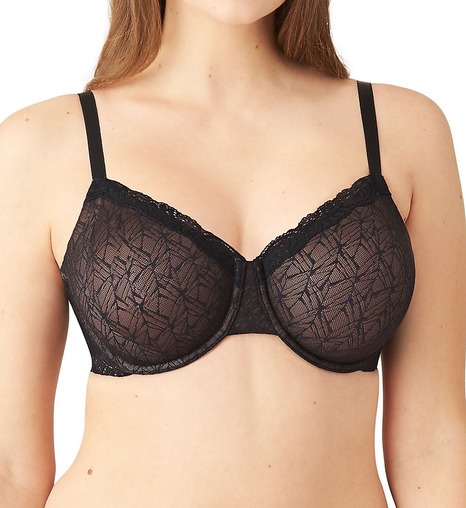 Wacoal >> Wacoal 855295 Vivid Encounter Underwire Bra (Black 34C)