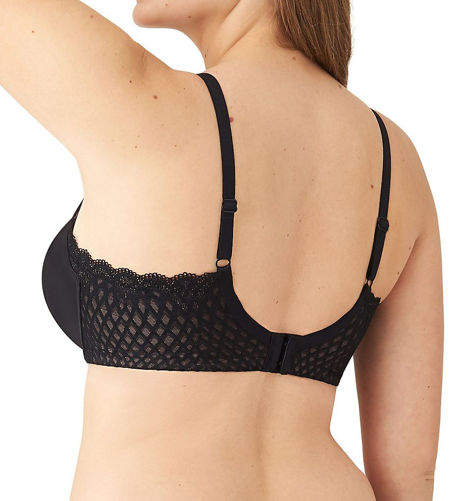 Wacoal - Wacoal 855338 Ultimate Side Smoother Lace Underwire Bra (Black 34D)