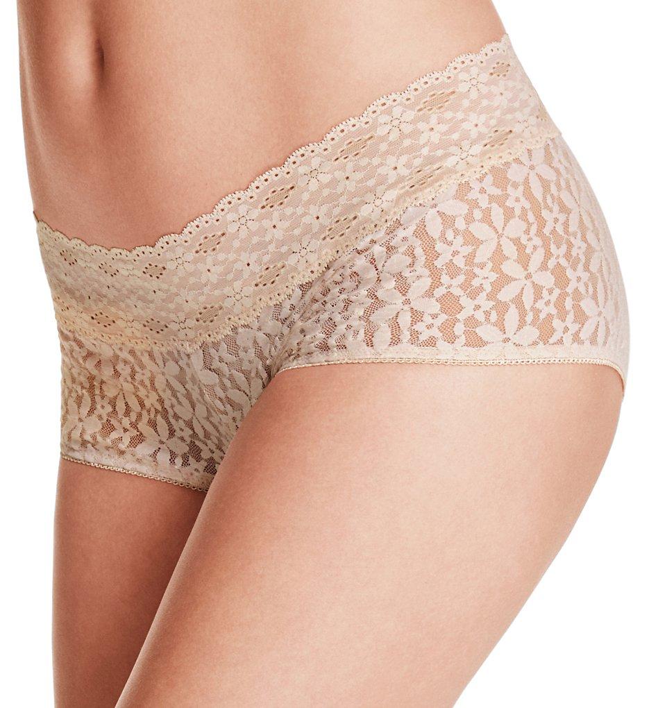 Wacoal - Wacoal 870205 Halo Lace Boyshort Panty (Sand S)