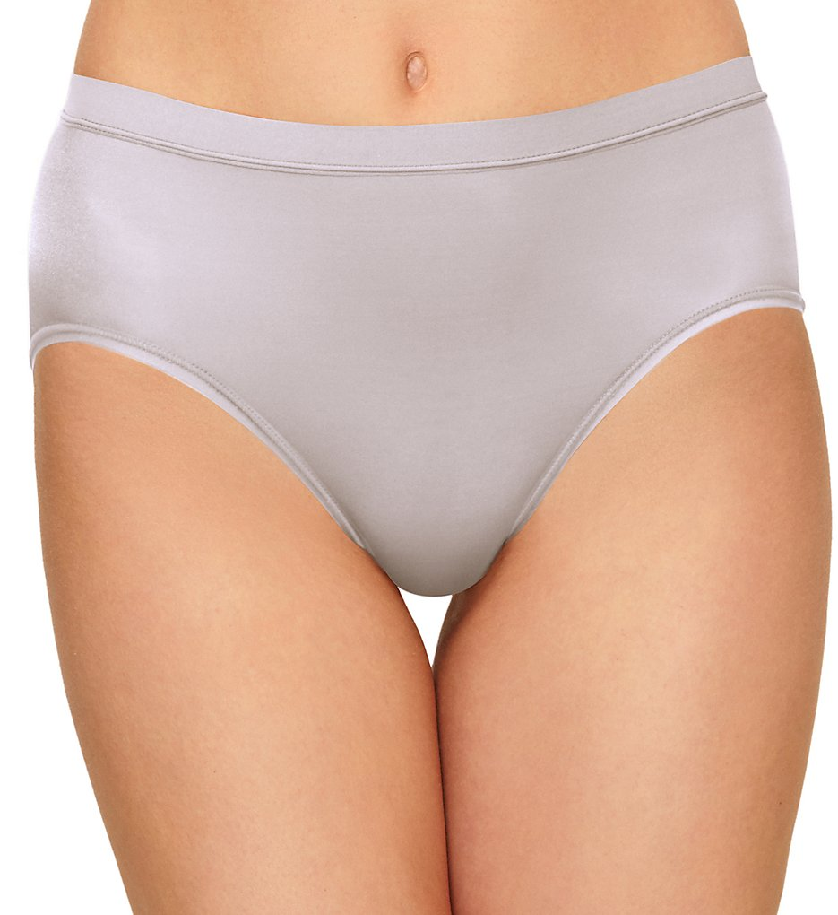 Wacoal >> Wacoal 879331 Flawless Comfort Hi-Cut Brief Panty (Lilac Gray S)