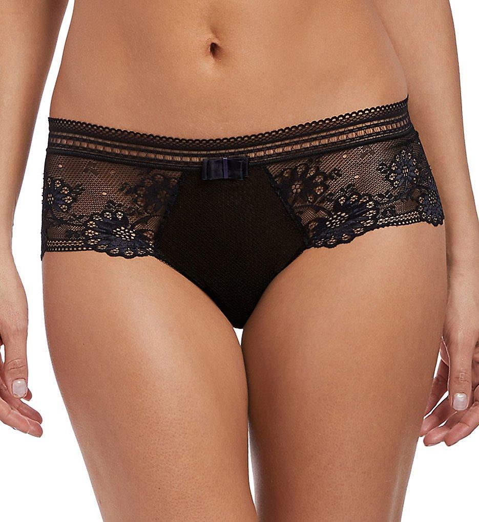 Wacoal - Wacoal E134005 Adore Bikini Lace Panty (Black/Navy S)