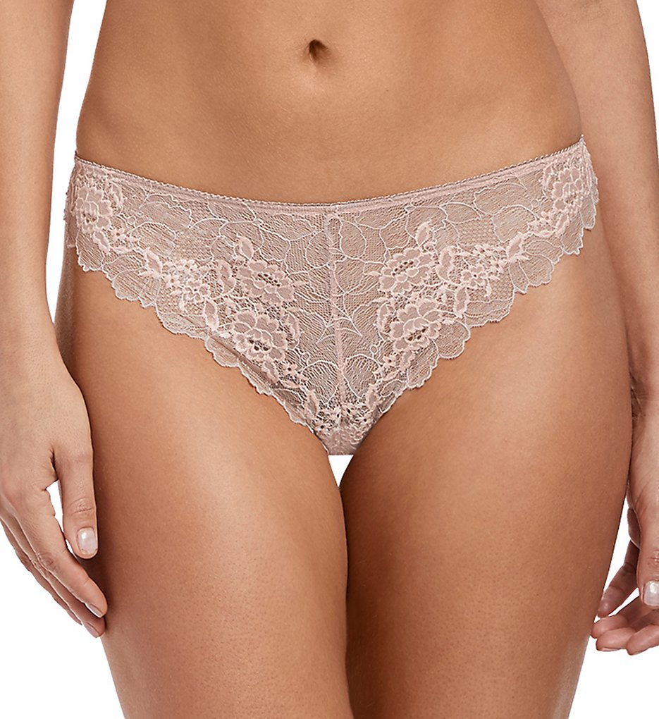 Wacoal >> Wacoal E135007 Lace Perfection Tanga Panty (Rose Mist M)