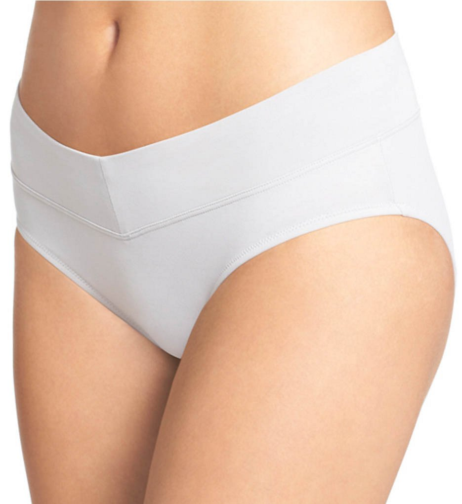Warners - Warners 5638 No Pinching No Problems Micro V Hipster Panty (White S)