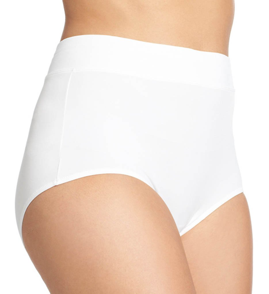 Warners : Warners 5738 No Pinching No Problems Tailored Micro Brief (White 2X)