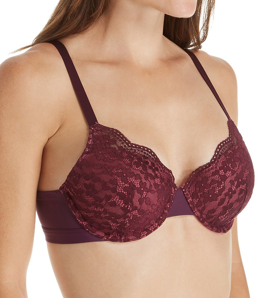Warners : Warners RF3341A Lace Escape Underwire Contour Bra (Potent Purple/Malaga 34B)