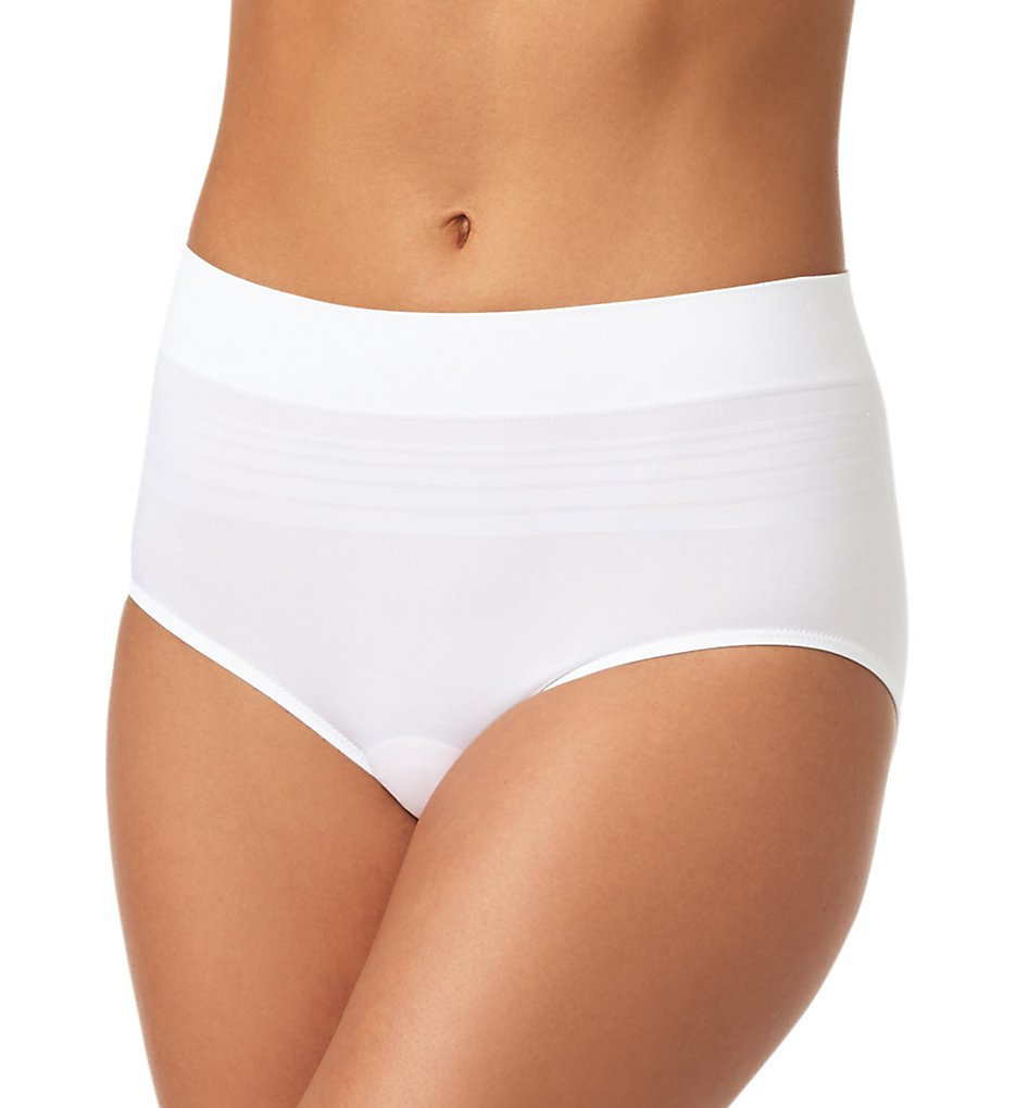 Warners - Warners RS1501P No Pinching. No Problems. Seamless Brief Panty (White 2X)
